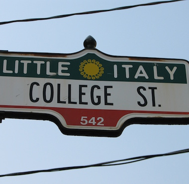 College Street Sign Toronto
