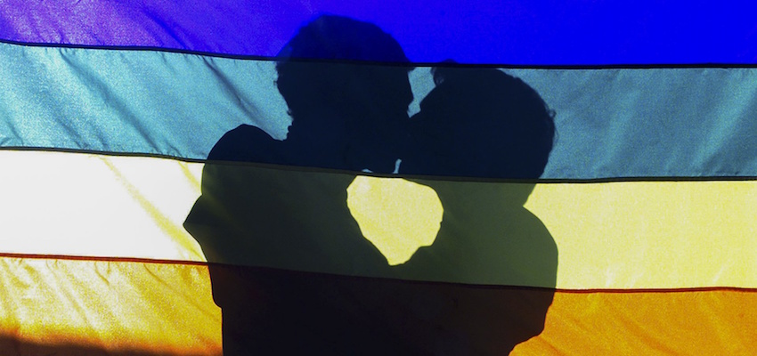 Gay Marriage Kiss