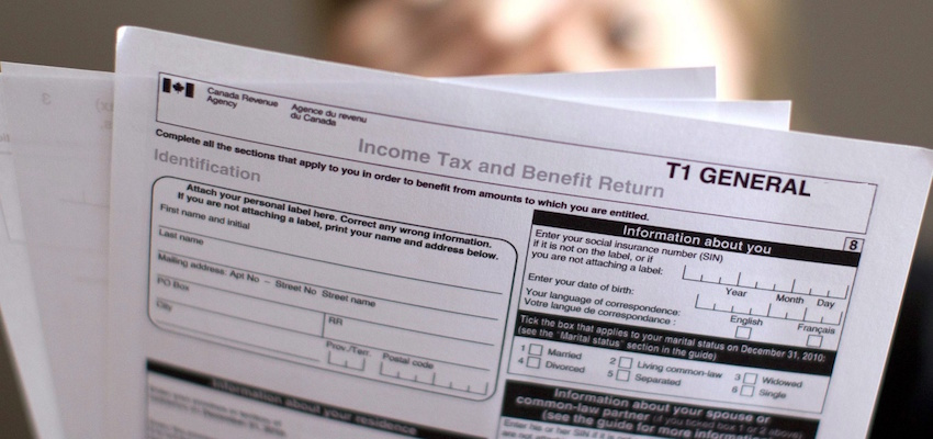 Income Tax T1 Form